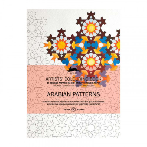 PEPIN Artists' Colouring Book Arabian Patterns
