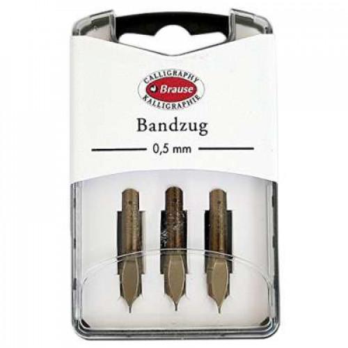 BRAUSE 3 Nibs Bandzug 0.5mm (Square Nib)