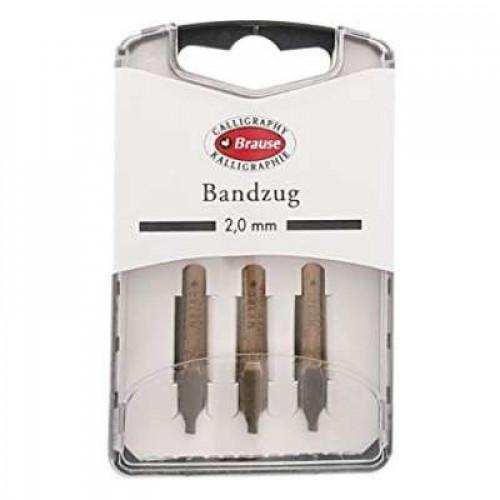 BRAUSE 3 Nibs Bandzug 2.0mm (Square Nib)