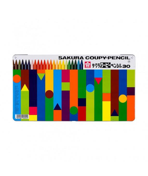 SAKURA Coupy-Pencils 30-Col Set XFY-30NU