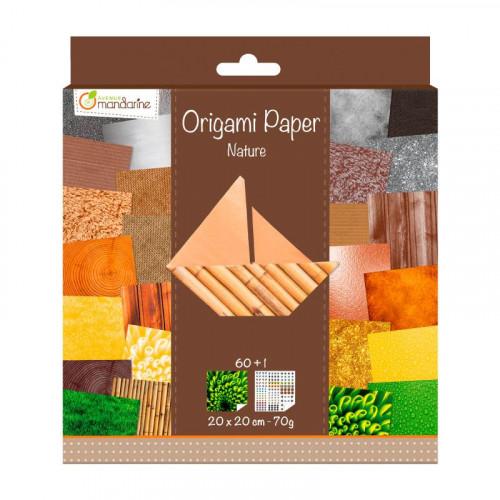 AVM Origami Paper 20x20cm 70g 60s Nature