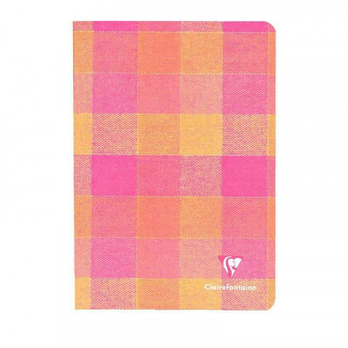 CLAIREFONTAINE Madras 11x17cm Ruled Yellow-Pink