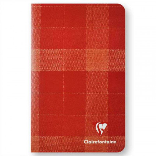 CLAIREFONTAINE Madras 11x17cm Ruled Red