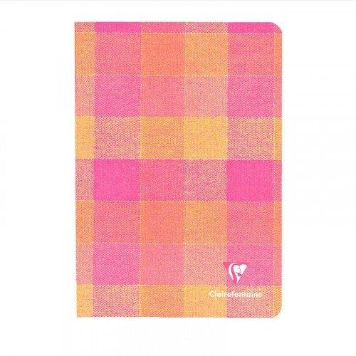 CLAIREFONTAINE Madras A5 Ruled Yellow-Pink