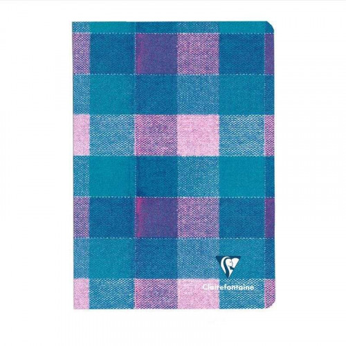 CLAIREFONTAINE Madras A5 Ruled Purple-Turq,