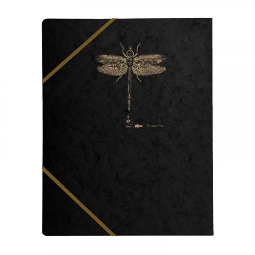 CF Flying Spirit 3-Flap Elasticated Folder Black