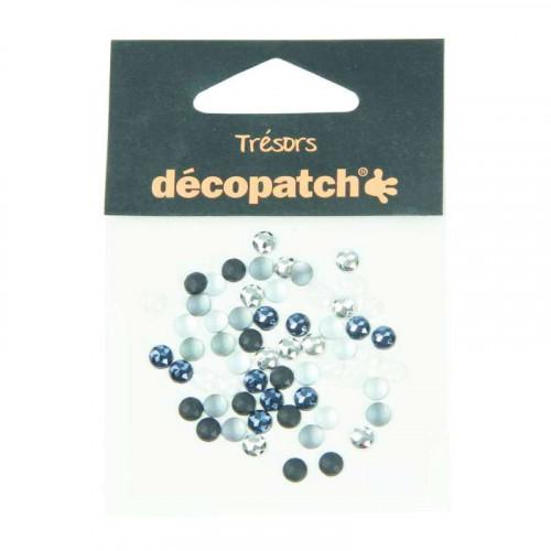 DECOPATCH:Accessories Cabochons 0.5cm Black/White