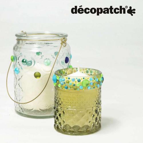 DECOPATCH:Accessories Cabochons 0.5cm Blue/Green 6