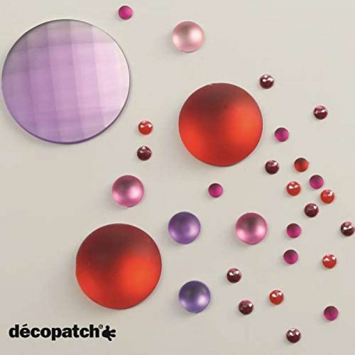 DECOPATCH:Accessories Cabochons 1cm Flashy 24s