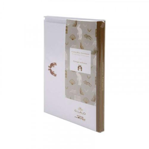 G.LALO 100 years Cards & Envelopes Set-Pistachio
