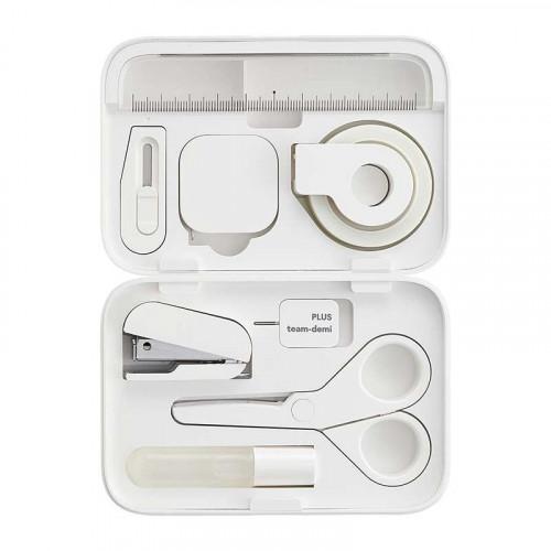 PLUS Team Demi Stationery Kit Shiro (White)