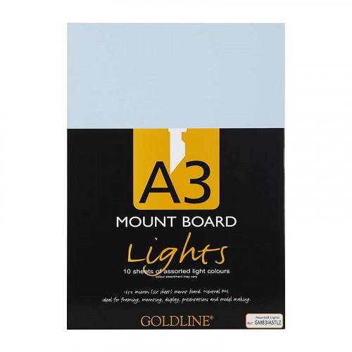 CF Goldline Mount Boards A3 Assorted Lights