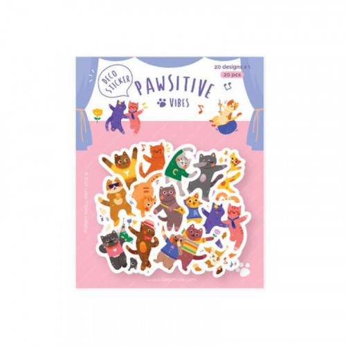 LOKAMADE Deco Sticker DS19:Pawsitive Vibes