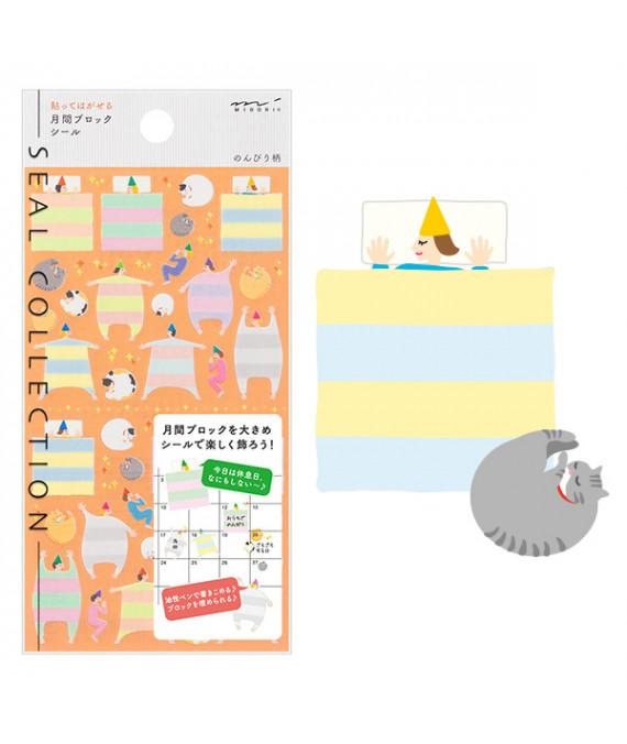 MIDORI Sticker 2301 Block Easygoing